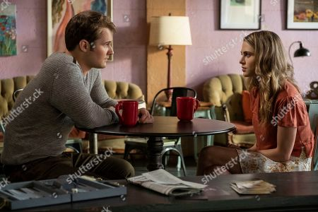 Justin Prentice as Bryce Walker and Anne Winters as Chloe Rice