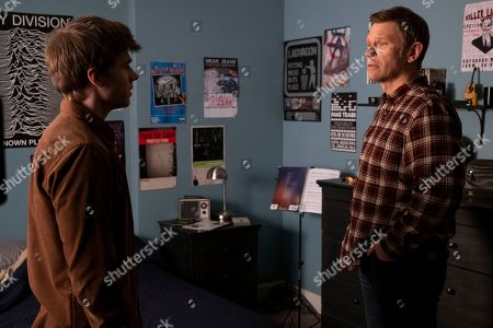 Miles Heizer as Alex Standall and Mark Pellegrino as Deputy Bill Standall
