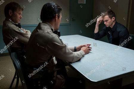 Stock Image of Mark Pellegrino as Deputy Bill Standall and Brandon Flynn as Justin Foley
