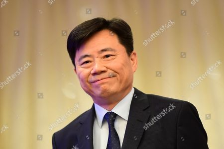 Editorial image of Press conference of Chinese Ambassador to Germany Wu Ken, Berlin - 11 Sep 2019