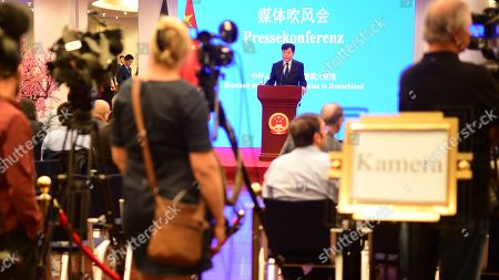 Editorial picture of Press conference of Chinese Ambassador to Germany Wu Ken, Berlin - 11 Sep 2019