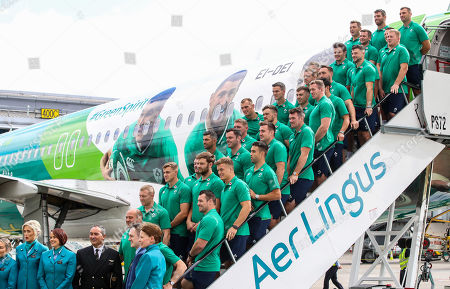 Editorial photo of Ireland Rugby Team Depart For Japan With Official Airline Partner Aer Lingus, Dublin Airport  - 11 Sep 2019