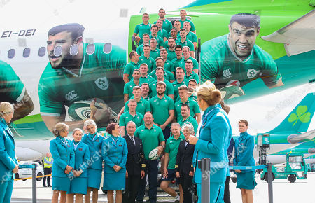 Editorial picture of Ireland Rugby Team Depart For Japan With Official Airline Partner Aer Lingus, Dublin Airport  - 11 Sep 2019