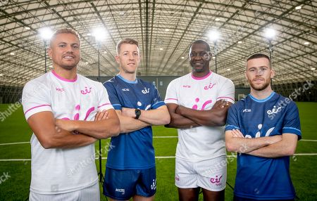 Stock Photo of Wes Brown, Emile Heskey, Jack Byrne and Shane Supple were at the Sport Ireland Campus today to help launch a new season of action on the eir sport pack. eir sport viewers can watch every game in the UEFA Champions League and UEFA Europa League plus UEFA Euro 2020 Qualifiers on Virgin Media Sport, which is now part of the eir sport pack, as well as live FA Cup games, SSE Airtricity League games & the Republic of Ireland's U21 Home Qualifiers. Pictured is (L-R) Wes Brown, Shane Supple, Emile Heskey and Jack Byrne