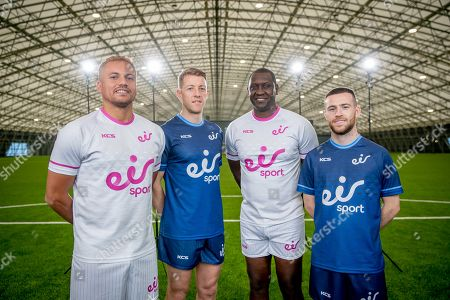 Stock Image of Wes Brown, Emile Heskey, Jack Byrne and Shane Supple were at the Sport Ireland Campus today to help launch a new season of action on the eir sport pack. eir sport viewers can watch every game in the UEFA Champions League and UEFA Europa League plus UEFA Euro 2020 Qualifiers on Virgin Media Sport, which is now part of the eir sport pack, as well as live FA Cup games, SSE Airtricity League games & the Republic of Ireland's U21 Home Qualifiers. Pictured is (L-R) Wes Brown, Shane Supple, Emile Heskey and Jack Byrne