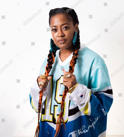 """This photo shows Rapsody posing for a portrait in New York to promote her latest album """"Eve"""