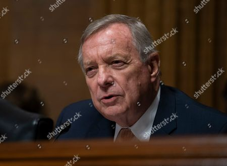 Sen. Dick Durbin, D-Ill., questions White House lawyer Steven Menashi, President Donald Trump's nominee for U.S. Court of Appeals for the 2nd Circuit, during his confirmation hearing before the Senate Judiciary Committee, on Capitol Hill in Washington,. Menashi's guarded responses were frustrating at times to both Democrats and Republicans on the Judiciary panel