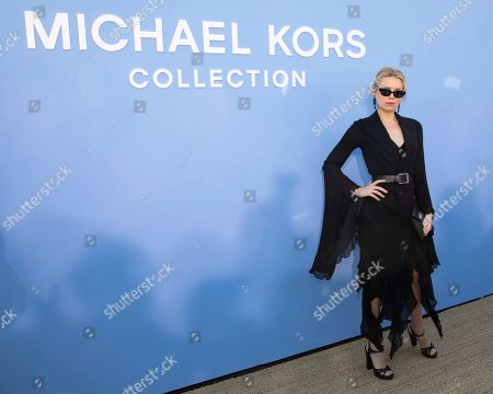 Theodora Richards attends the Michael Kors runway show at Duggal Greenhouse during NYFW Spring/Summer 2020, in Brooklyn, New York