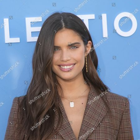 Sara Sampaio attends the Michael Kors runway show at Duggal Greenhouse during NYFW Spring/Summer 2020, in Brooklyn, New York