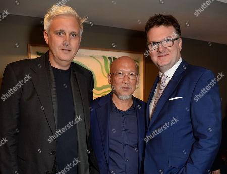 Zhang Enli with Neil Wenman and Ewan Venters