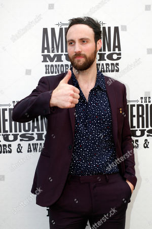 Stock Image of Ruston Kelly arrives at the Americana Honors & Awards show, in Nashville, Tenn
