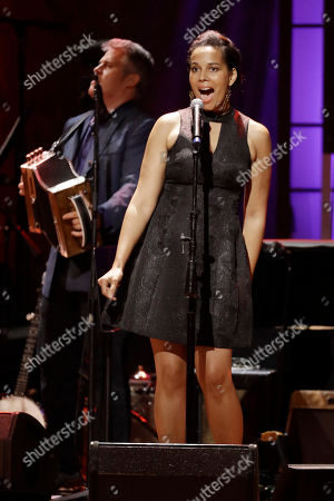 Stock Picture of Rhiannon Giddens of Our Native Daughters performs during the Americana Honors & Awards show, in Nashville, Tenn