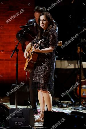Lori McKenna performs during the Americana Honors & Awards show, in Nashville, Tenn