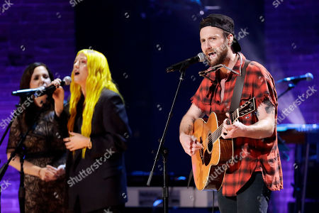 Stock Picture of Ruston Kelly, right, performs during the Americana Honors & Awards show, in Nashville, Tenn