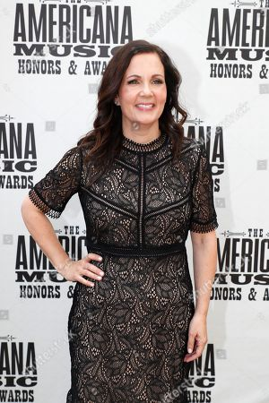 Lori McKenna arrives at the Americana Honors & Awards show, in Nashville, Tenn