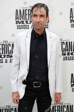 Andrew Bird arrives at the Americana Honors & Awards show, in Nashville, Tenn