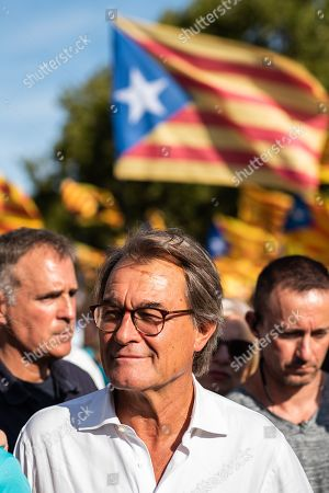 Artur Mas i Gavarro ex-president of Catalonia during a Pro-Independence demonstration as part of the celebrations of the National Day of Catalonia