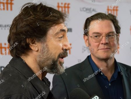 Javier Bardem (L) and Spanish director Alvaro Longoria arrive for the screening of the documentary 'Sanctuary' during the 44th annual Toronto International Film Festival (TIFF) in Toronto, Canada, 11 September 2019. The festival runs 05 to 15 September.
