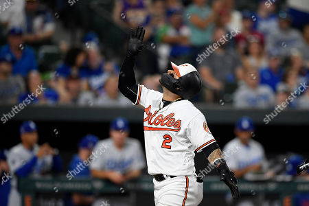 Baltimore Orioles' Jonathan Villar celebrates his three-run home run during the seventh inning of the team's baseball game against the Los Angeles Dodgers, in Baltimore. Villar connected for the 6,106th homer in the majors this season. That topped the mark of 6,105 set in 2017. The Orioles won 7-3