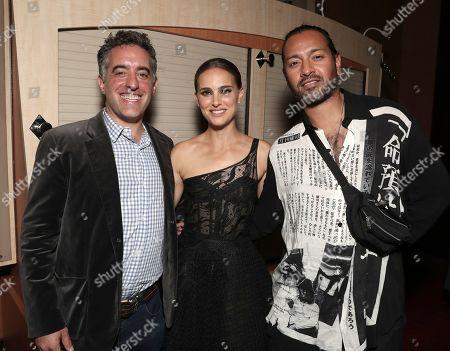 Stock Photo of Nathan Englander, Natalie Portman and Jamil Shamasdin