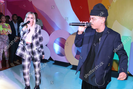 Stock Picture of Evan Ross and Ashlee Simpson