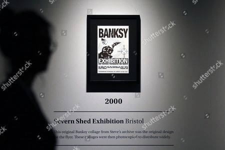 An art work by Banksy is displayed during a media preview of The Art Of Banksy at Moore Park's Entertainment Quarter in Sydney, Australia, 12 September 2019. The Art Of Banksy, the world's largest touring collection of Banksy's works, will open in Sydney on 13 September and is curated by Banksy's former manager and photographer Steve Lazarides.