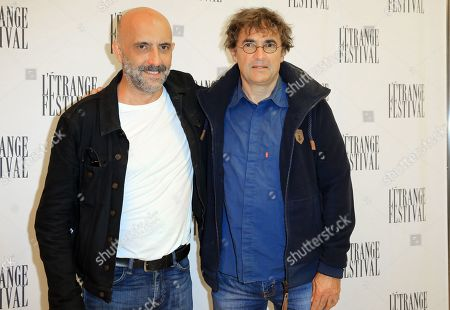 Argentinian director Gaspar Noe pose, left, with actor Albert Dupontel during an avant Premiere Irreversible in Paris, France. 2019/09/06. SIPA IMAGES//SOLAL_solal0087/1909071116/Credit:SOLAL/SIPA/1909071118