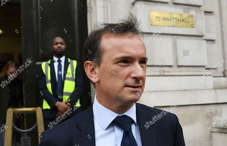 British Welsh Secretary Alun Cairns departs the Cabinet Office following a Brexit meeting in London, Britain, 12 September 2019. Reports state that some Members of Parliament (MP's) are calling for British Prime Minister Boris Johnson to resign if he is found to have misled the Queen over the proroguing of Parliament. Meanwhile three judges in Edinburgh have found the suspension of Parliament unlawful but the courts in England and Northern Ireland have ruled the opposite.