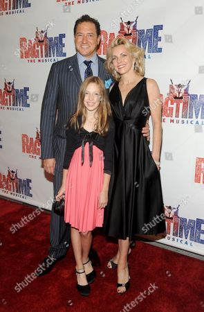 Kevin McCollum, wife Lynette Perry and daughter