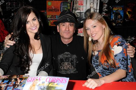 """Stock Image of Jillian Murray, Robert Steven Rhine, Editor In Chief of """"Girls & Corpses"""", and Clare Grant"""