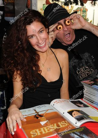 """Stock Picture of Victoria De Mare and Robert Steven Rhine, Editor In Chief of """"Girls & Corpses"""""""