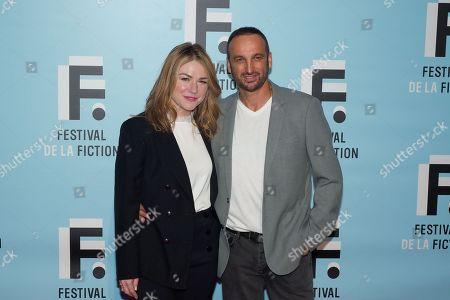 Emilie Dequenne and her husband Michel Ferracci