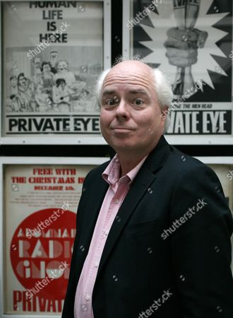 Deputy editor of 'Private Eye' satirical magazine, Francis Wheen,  at the publications' offices in London