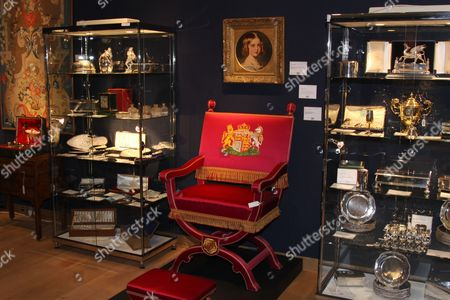 Chair used by Prince George at the coronation of his brother, King George VI in 1937