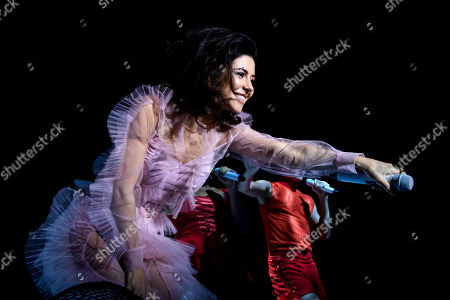 Marina Diamandis performs during a sold out show in Toronto.