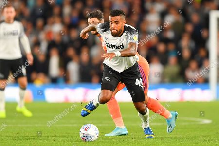 13th September 2019, Pride Park, Derby, England; Sky Bet Championship Football, Derby County vs Cardiff City ; Tom Huddlestone (44) of Derby County  Credit: Jon Hobley/News Images  English Football League images are subject to DataCo Licence