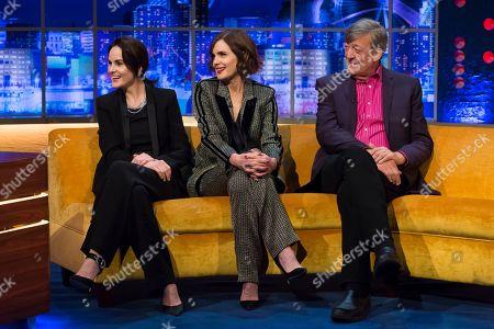 Michelle Dockery, Elizabeth McGovern, Stephen Fry