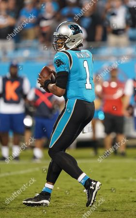 Stock Photo of Cam Newton, Quarterback of the Carolina Panthers (1), in action