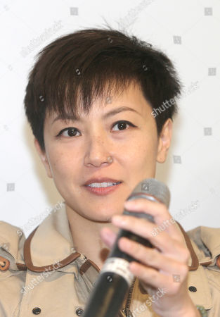 """Hong Kong singer Denise Ho calls on Taiwanese people to take part in the """"hold Hong Kong, anti-totalitarian"""" march on September 29 during a press event to support Hong Kong pro-democracy activity in Taipei, Taiwan"""