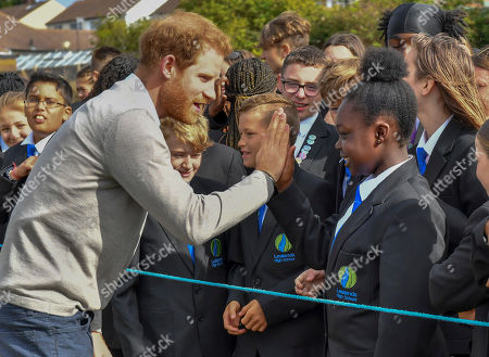 Editorial picture of Prince Harry visit to Lealands High School, Luton, UK - 12 Sep 2019