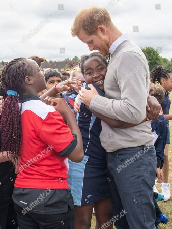 Editorial photo of Prince Harry visit to Lealands High School, Luton, UK - 12 Sep 2019