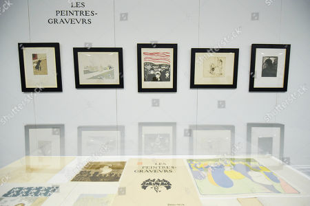"""Photocall for """"Les Peintres-Graveurs"""", a multi-artist portfolio of lithographs published in 1896 by Ambroise Vollard, to be auctioned at Sotheby's on September 17 with an estimate of £500,000 to £1,000,000. It is the only known complete example and includes 22 prints by the greatest Impressionist and Post-Impressionist artists such as Pierre Bonnard, Odilon Redon, Théo van Rysselberghe, Auguste Renoir, and Edouard Vuillard., as well as the first colour lithograph by a then not so well-known Edvard Munch."""