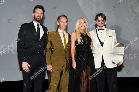 Stock Picture of Andrea Lervolino, Mark Rylance, Monika Bacardi and Johnny Depp