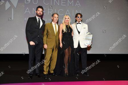 Stock Photo of Andrea Lervolino, Mark Rylance, Monika Bacardi and Johnny Depp
