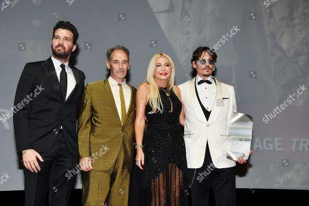 Andrea Lervolino, Mark Rylance, Monika Bacardi and Johnny Depp