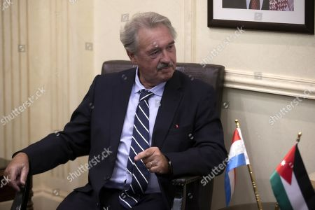 Luxembourg Foreign Minister Jean Asselborn during a meeting at the Foreign Ministry in Amman, Jordan, 12 September 2019.