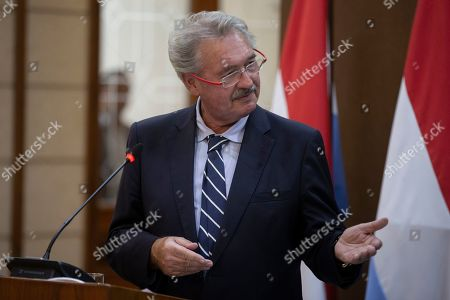 Luxembourg Foreign Minister Jean Asselborn addresses the media at the Foreign Ministry in Amman, Jordan, 12 September 2019.