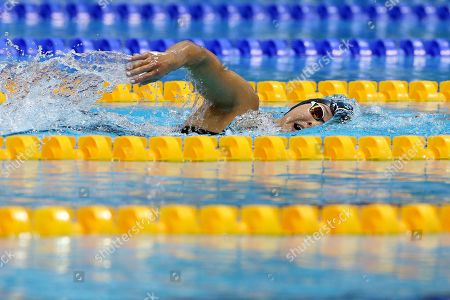 Alice Tai of Great Britain competes in the Women's 400M Freestyle S8 heat during day four of the World Para Swimming Championships at the London Aquatics Centre in London, Britain, 12 September 2019. The event is one of the largest Para Swimming championships and will see nearly 600 swimmers compete from 09 September to 15 September 2019.