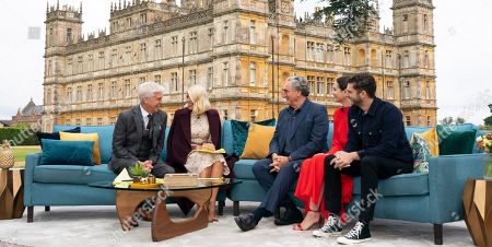 Phillip Schofield, Holly Willoughby, Jim Carter, Tuppence Middleton and Michael C Fox