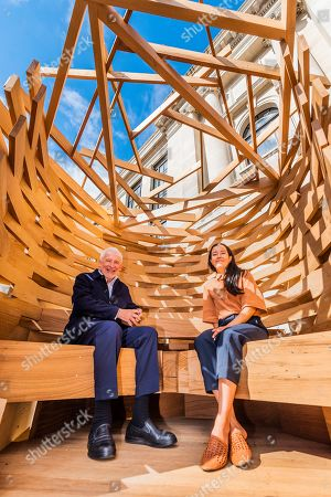 Sir John Sorrell CBE, Chairman of London Design Festival, commissioned Juliet Quintero (both pictured) of Dallas-Pierce-Quintero, to create a lookout seat for the garden. It is shaped like a bird's nest and will create a space for contemplation and reflection. The planks of red oak were thermally modified to make the piece more durable for outdoor use and the piece was structurally engineered by Arup. Sir John invited leaders of London's cultural institutions to collaborate with some of Europe's most exciting designers to create a 'legacy' piece of design in American red oak for London Design Festival. The pieces ' ten in total ' are on show in the Sculpture Gallery of the Victoria & Albert Museum, with only this one outside the Natural History Museum on Exhibition Road - they will be in place for the duration of London Design Festival, 14-22 September 2019. The project is in collaboration with the American Hardwood Export Council (AHEC).
